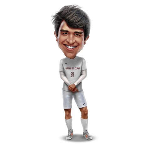 Person Student Athlete Caricature in High Exaggerated Style from Photos - example