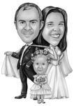 Bruiloft karikaturen example 5