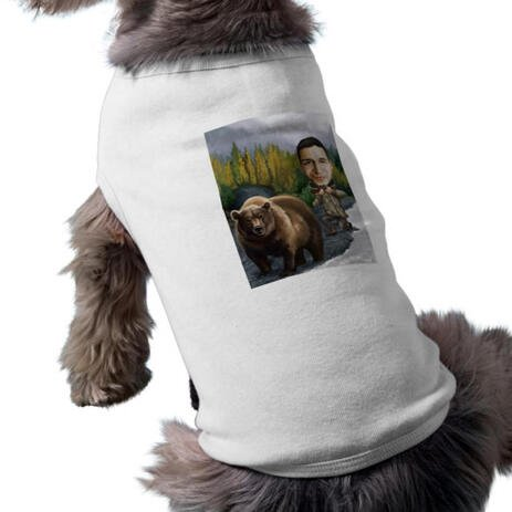 Man with Pet Caricature as Pet Shirt - example