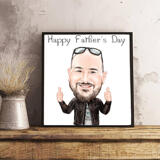 Photo Print: Father's Day Caricature Drawing upon Request