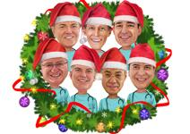Christmas Group Caricature example 8