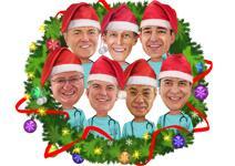 Caricatura de Grupo de Natal example 8
