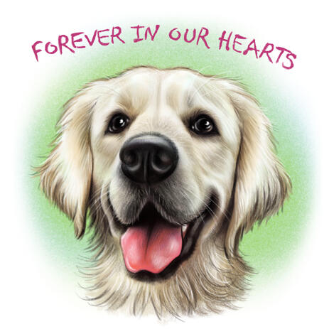 Dog Portrait - Dog Loss Gift, Dog Memorial Painting from Photos - example