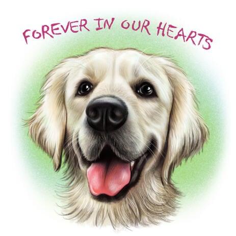 Hundeportrait - Dog Loss Gift, Hundeerinnerungsmalerei von Fotos - example