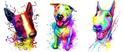 Bull Terrier Caricature