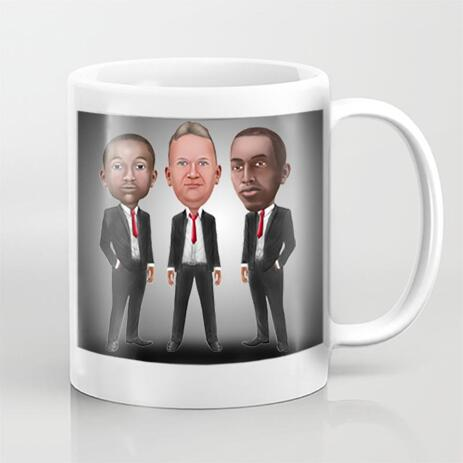 Employees Caricature on Mug - example