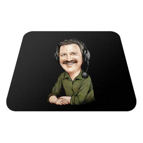 Mouse Pad with Corporate Caricature - example