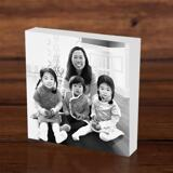 Family with Kids Caricature as Photoblock