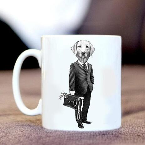 Cofee mug with Business Caricature - example