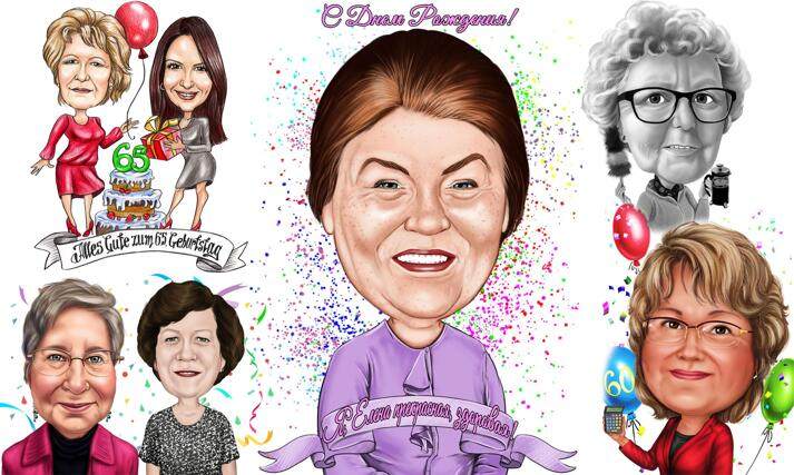 Grandma's Birthday Caricature large example