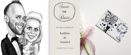Wedding Caricature Invitations