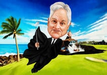 Caricatura da golf example 1