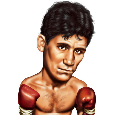 Boxing Caricature in Head and Shoulders Color Style for Custom Boxer Gift - example