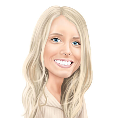 Person Cartoon Portrait in Colored Style from Photo - example