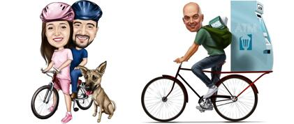 Bicycle Caricatures