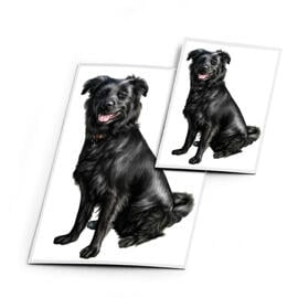 Dog Caricature Printed on Magnets