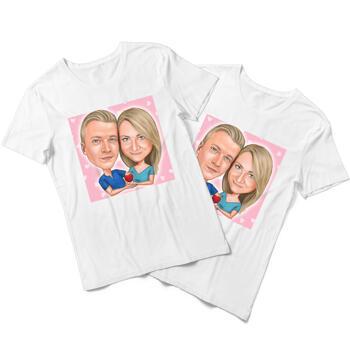 Yhteensopivat karikatyyri-T-paidat