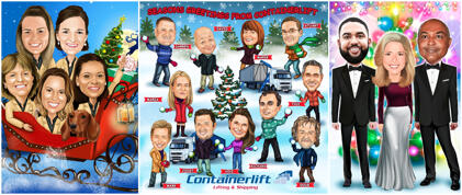Corporate Christmas Caricature