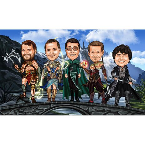 Film Groomsmen Cartoon: Game of Thrones eller enhver anden film - example