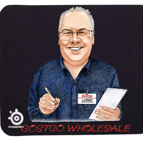 Portrait for Business on Mouse pad - example