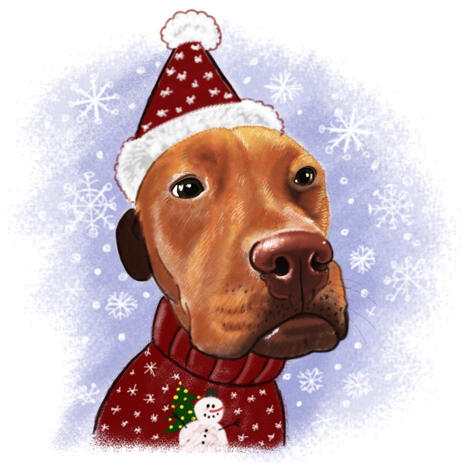 Cute Christmas Dog Portrait from Photos - example