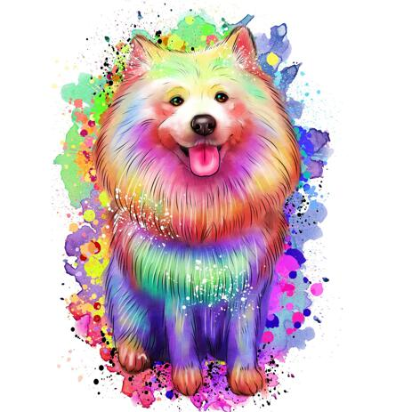 Rainbow Full Body Pet Portrait - example