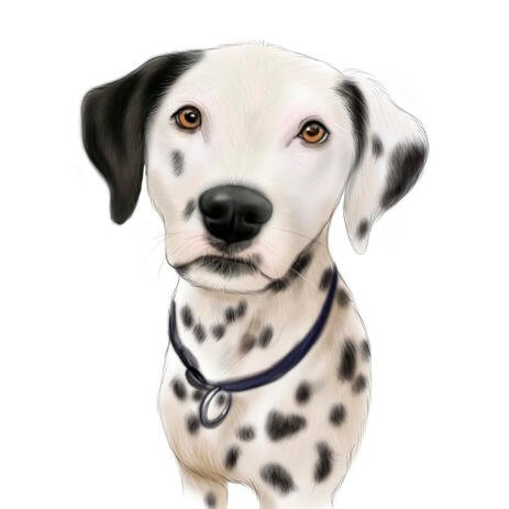 Colored Dalmatian Caricature Portrait from Photos - example