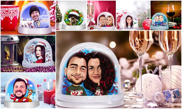 Karikatyyri Snow Globe large example