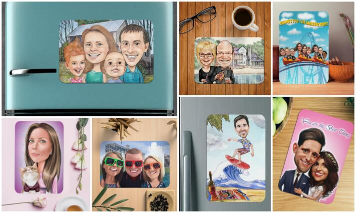 Caricature Magnets large example