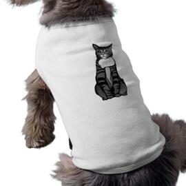 Cat Portrait from Photos on Pet Shirt