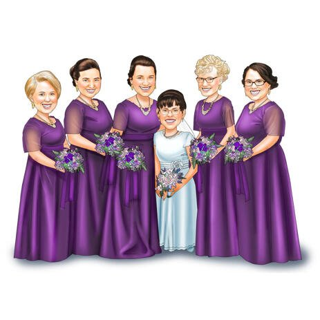 Bridesmaids Portrait from Photos for Personalized Bridesmaids Gift - example