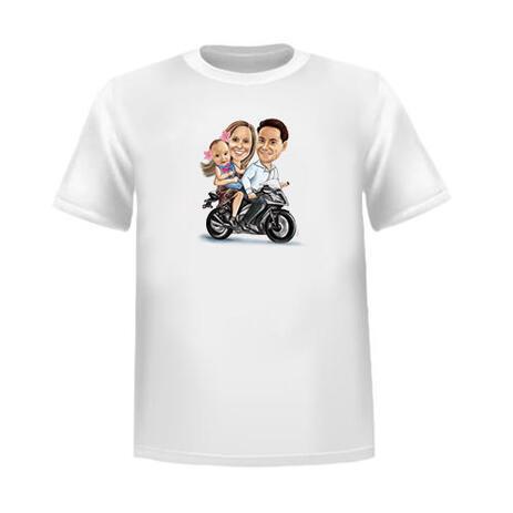 Kundenspezifische Gruppen-Karikatur auf T-Shirt - example