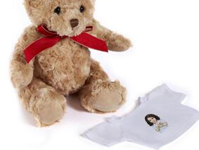 Kid Caricature Drawing Printed as Teddy Bear