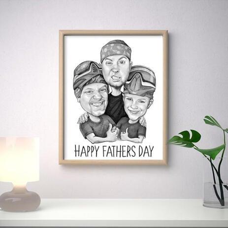 Черно-белый подарочный постер на день отца. - example