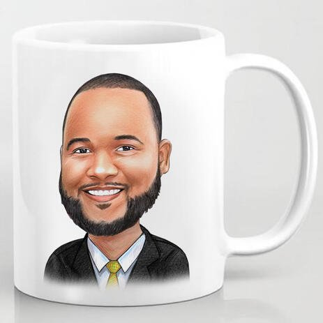 Business Logo Caricature on Cofee Mug - example