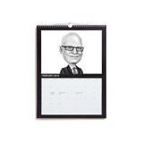 Business Caricature on Calendar