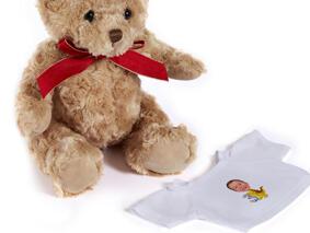 Birthday Children Caricature on Teddy Bear