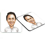Caricature for Business Owners on Photo coasters