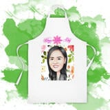Kitchen Apron Delivery: Colored Cartoon Caricature Drawing in Colored Pencils