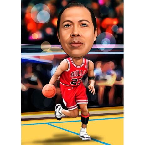 Bullen Basketball Karikatur von Fotos - example