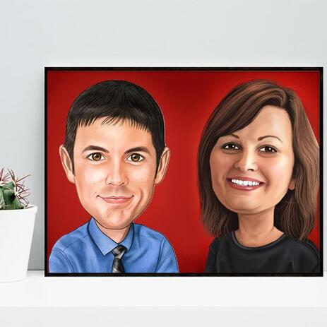 Corporate Caricature on poster - example
