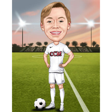 Football Kid Caricature from Photos - example