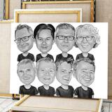 Business Logo Caricature on Canvas