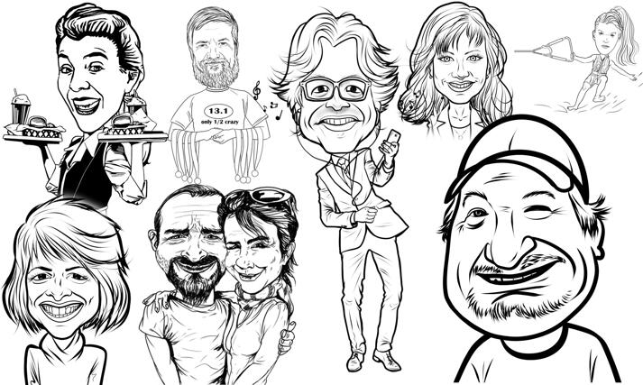 Line Caricature large example
