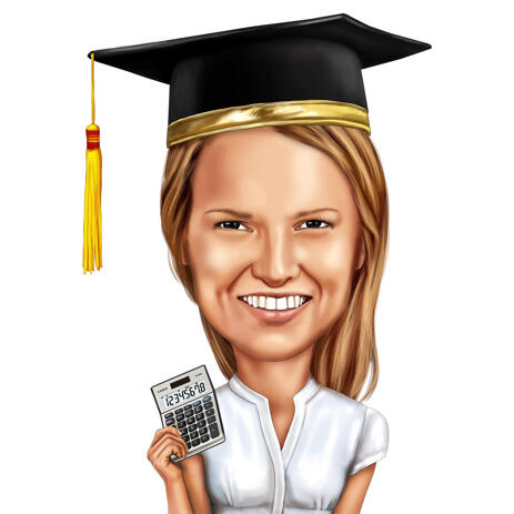 Graduation Caricature Gift from Photos in Colored Style - example