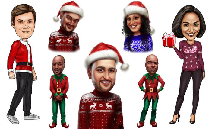 Individual Christmas Caricature large example