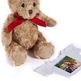 Just Married Caricature Printed as Teddy Bear