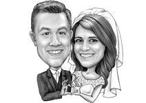 Bruiloft Teddy karikatuur example 6