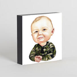 Toddler Caricature from Photos as Photo Block
