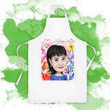 Custom Apron Print: Pencils Cartoon Drawing from Photo on Mother's Day